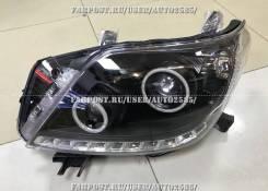 Фары Toyota Land Cruiser Prado 150 линза диодные черные