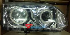 Фары тюнинг линза Mitsubishi Delica/Space Gear 1998-2006 хром (глазки)