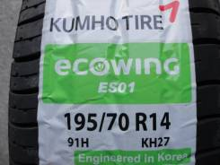 Kumho Ecowing ES01 KH27. Летние, 2017 год, без износа, 4 шт