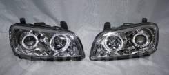 Фары (оптика) с ангельскими глазками Toyota Rav4 96-99 линза