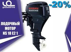Nissan Marine. 18,00л.с., 2-тактный, бензиновый, нога S (381 мм), 2018 год