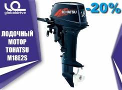 Tohatsu. 18,00л.с., 2-тактный, бензиновый, нога S (381 мм), 2018 год