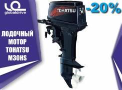 Tohatsu. 30,00л.с., 2-тактный, бензиновый, нога S (381 мм), 2018 год