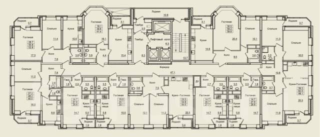 1-комнатная, улица Нейбута 17 кор. 10. 64, 71 микрорайоны, застройщик, 28кв.м.