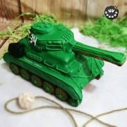 Имбирные медовые пряники. Подарок на 23 февраля. 3Д танк. Под заказ