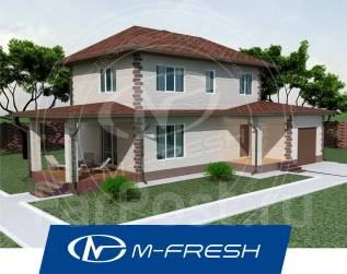 M-fresh Compact Bonus (Готовый проект компактного дома с гаражом! ). 100-200 кв. м., 2 этажа, 5 комнат, бетон