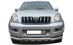 Кенгурятники. Toyota Land Cruiser Prado, GRJ120, GRJ120W, KDJ120, KDJ120W, KZJ120, LJ120, RZJ120, RZJ120W, TRJ120, TRJ120W, VZJ120, VZJ120W. Под заказ