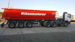Kassbohrer. Самосвальный полуприцеп 32 куб. м., 30 000кг.