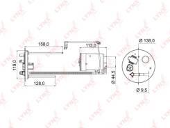 Фильтр топливный LF972M LYNXauto LF972M