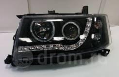 Фары тюнинг диодные Toyota Succeed черные линзованые (глазки)