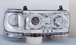 Фары тюнинг Toyota Land Cruiser 80 белые хром (линза)