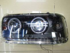 Фары тюнинг линзы Toyota Land Cruiser 80 черные (глазки)