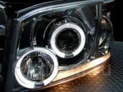 Фары тюнинг линзы Toyota Hiace 2005 хром белые (глазки)