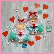 Ангелочек с сердцем подарок, валентинка на день Валентина 14 февраля. Под заказ