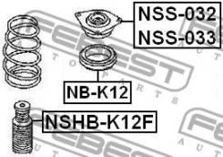 Подшипник амортизационной опоры | перед прав/лев | Febest NBK12