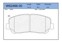 Колодки тормозные дисковые | перед | |В наличии на складе! JEENICE WS246600