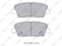 Колодки тормозные дисковые | зад | LYNXauto BD3623
