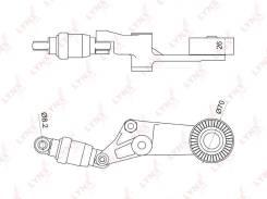 Натяжитель ремня навесного оборудования | В наличии! LYNXauto [PT3044]