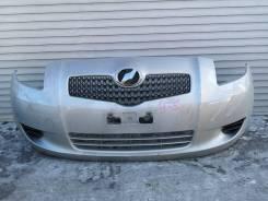 Бампер передний Toyota Vitz 2006г 1модель серебро