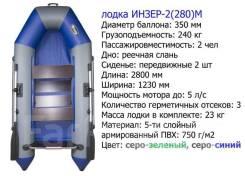 Инзер 2 М. 2019 год год, длина 2,80м., двигатель без двигателя, 5,00л.с.