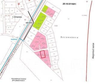 Участок 10 соток в коттеджном поселке Шмидтовка на Де-Фризе. 1 000кв.м., собственность, электричество, вода