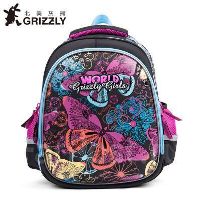 e6e76ec36a52 Рюкзак/портфель школьный формованный, Grizzly, для девочки (1-6 ...