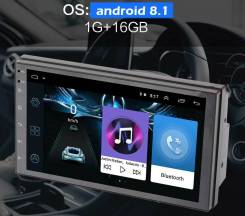 2DIN автомагнитола на Android 8.1, Wi-fi, Bluetooth, экран 7 дюймов