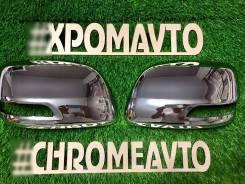 Накладка на зеркало. Toyota Land Cruiser, GRJ200, URJ200, URJ202, URJ202W, UZJ200, UZJ200W, VDJ200, J200 Toyota Land Cruiser Prado, GDJ150, GDJ150L, G...