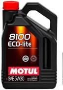 Motul 8100 Eco. 5W30, синтетическое, 5,00л.