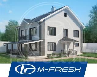 M-fresh Tamerlan (Готовый проект удобного дома с накрытой террасой! ). 200-300 кв. м., 2 этажа, 6 комнат, бетон