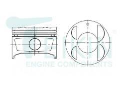 Поршень. Toyota: Carina, Soluna, Sprinter, Vios, Soluna Vios, Corolla Levin, Sprinter Trueno, Corolla, Sprinter Marino, Tercel, Corolla Ceres Двигател...