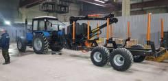 BMF, 2019. Полуприцеп тракторный лесовозный BMF 12T2PRO и манипулятором BMF 750, 12 000кг.