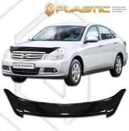 Дефлектор капота Nissan Almera G11, G15 2012–н. в. (Мухобойка)