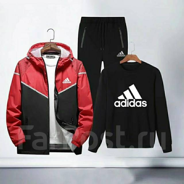 de9553fc93d Фирменный костюм тройка Adidas 2019. Хит продаж - Спортивная одежда ...