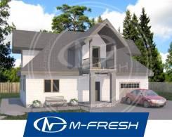M-fresh Artur (Готовый строительный проект дома с гаражом! ). 100-200 кв. м., 2 этажа, 4 комнаты, бетон
