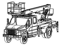 Mars/23. Автогидроподъемник на Газоне Некст С42R33 – двухрядная кабина MARS/23, 23,00м.