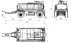 Foxtank АЦ-10. Прицеп цистерна АЦ-10, 10 000кг.