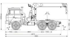 Dongyang SS1926. Седельный тягач с КМУ DongYang SS1926 Урал 44202-82Е5, 6x6