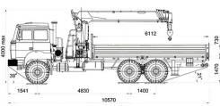 Dongyang SS1926. Бортовой с КМУ DongYang SS1926 Урал М 4320-80Е5, 6x6. Под заказ