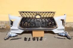 Бампер передний LX570 2012, 2013, 2015 г. в стиле 2016+ г TRD Superior
