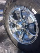 "Шины Bridgestone на хромированном литье. 7.5x17"" 6x139.70 ET30 ЦО 106,1мм."