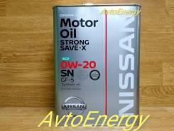 Nissan. 0W-20, синтетическое, 4,00л.
