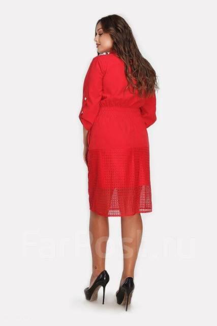cf06c2c1e93 Платье красивого Алого цвета! Шикарный фасон и удобство! 50-52 ...