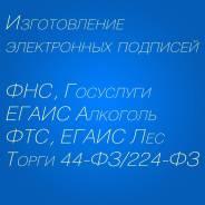 Электронная подпись для ФНС, Госуслуги, ОФД, ЕГАИС Алкоголь