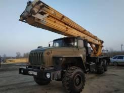 Пинский завод СММ ПМС-328. Автовышка пмс-328-01 агп 28 метров Урал, 28,00м.