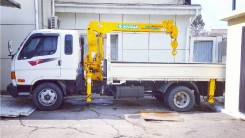 Hyundai Mighty. Продам грузовик Hyundai E-Mighty с крановой установкой, 3 907куб. см., 4x2