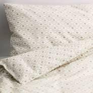ЭРТЕВЭН Пододеяльник, наволочка для детской кроватки, цвет белый, бежевый, 125*110/55*35см, ИКЕА, в наличии