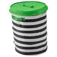 ФЛЮТТБАР Корзина c крышкой, цвет зеленый, диам.35см, ИКЕА, в наличии