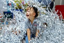 Бумажное, серебряное (серпантин) шоу на детский праздник