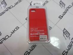 Силиконовая накладка Silky soft-touch Xiaomi Redmi 6A красный